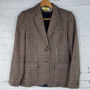 Vintage The Villager Blazer Tan Wool Blend 8